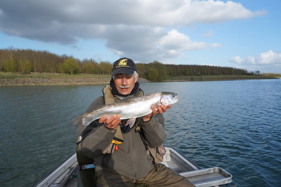 "Fully fined Rainbow from Grafham Water while ""deep water"" Buzzer fishing."