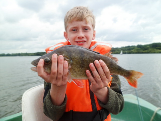Bobby fingers Baldock with a 2lb Perch