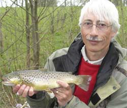 Andy Lush which his catch at Lakedown trout fishery