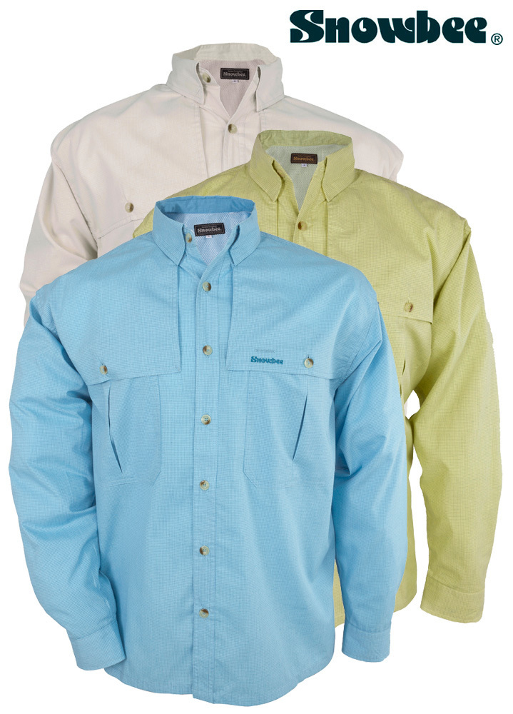 Snowbee superlight long sleeve fishing shirts upf30 x for Fishing shirts on sale