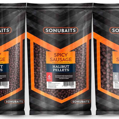 SONUBAITS PELLET SPICY SAUSAGE HALIBUT 4MM product image