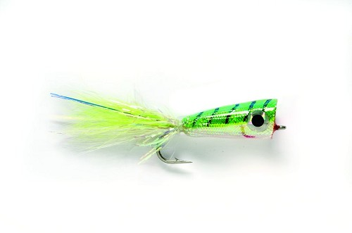 FULLING MILL MYLAR POPPER CHARTREUSE & WHITE 2631 product image