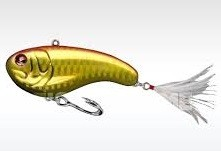 SEBILE FLATT SHAD SNAGLESS SINKING GOLD HOLO / RED / CHARTREUSE product image