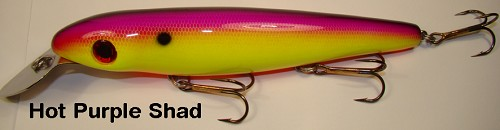 BIG FORK LURES REEF DIGGER HOT PURPLE SHAD #14 product image