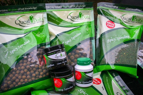 QUEST BAITS SPICY SPIRULINA POP UPS 15MM  product image