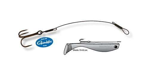 SPRO PIKE FIGHTER SHAD STINGER TRACE - WIRE product image
