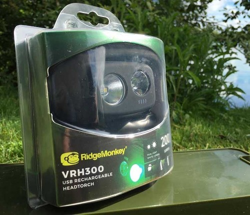 RIDGEMONKEY VRH300 USB RECHARGEABLE HEADTORCH product image