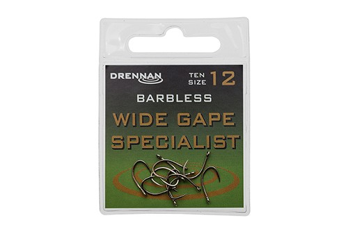 DRENNAN WIDE GAPE BARBLESS SPECIALIST HOOKS product image