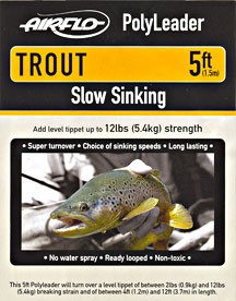 AIRFLO POLY LEADERS - TROUT 5Ft product image