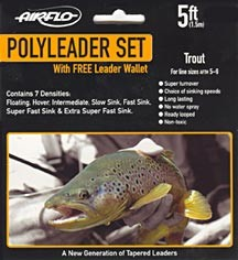AIRFLO POLY LEADER SET - TROUT  5Ft product image